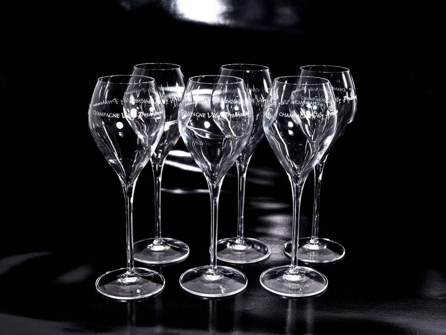 coffret de 6 flûtes champagne Vély-Prodhomme